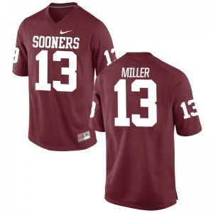 A.D. Miller Oklahoma Sooners University Mens Game Jersey - Crimson