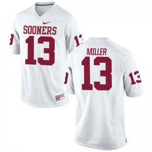A.D. Miller OU Sooners College Men Game Jerseys - White