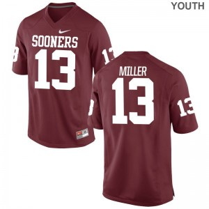 A.D. Miller Oklahoma Sooners Player Youth Game Jerseys - Crimson