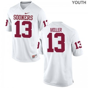 A.D. Miller OU Sooners High School Youth(Kids) Game Jerseys - White