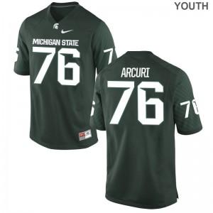 AJ Arcuri Michigan State University College Youth(Kids) Game Jerseys - Green