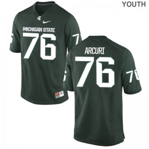AJ Arcuri Michigan State University Football For Kids Limited Jerseys - Green