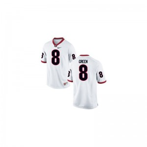 A.J. Green University of Georgia Official Men Limited Jerseys - White