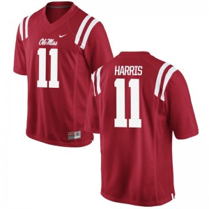A.J. Harris Ole Miss High School Mens Game Jersey - Red