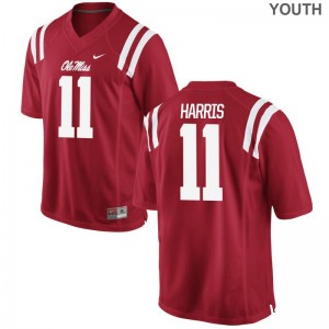 A.J. Harris Rebels Player Youth(Kids) Game Jerseys - Red