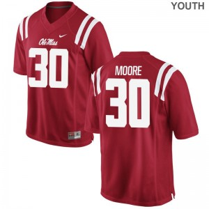 A.J. Moore Rebels Official Youth(Kids) Limited Jerseys - Red