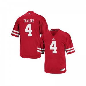 A.J. Taylor Wisconsin Player Men Authentic Jerseys - Red