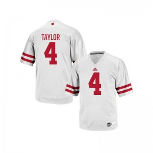 A.J. Taylor University of Wisconsin University For Men Authentic Jersey - White