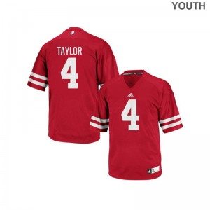 A.J. Taylor Wisconsin Badgers NCAA Youth(Kids) Authentic Jerseys - Red