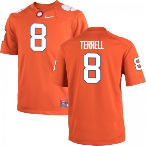 A.J. Terrell Clemson National Championship Official Mens Game Jerseys - Orange