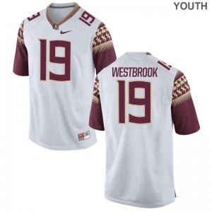 A.J. Westbrook FSU Official Kids Game Jersey - White
