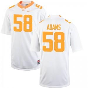 Aaron Adams UT University For Men Game Jerseys - White