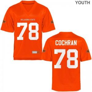 Aaron Cochran Oklahoma State Cowboys Football Kids Game Jersey - Orange