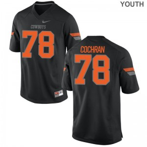 Aaron Cochran Oklahoma State Cowboys Official Kids Limited Jerseys - Black