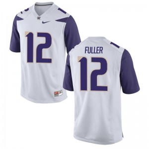 Aaron Fuller Washington University Men Limited Jerseys - White