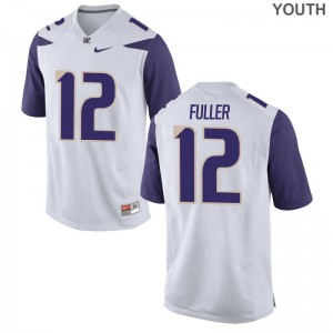 Aaron Fuller UW Alumni Youth Game Jerseys - White