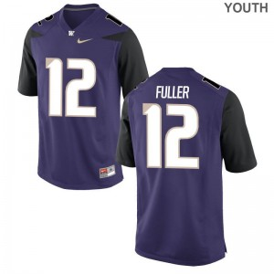 Aaron Fuller UW Huskies NCAA Youth(Kids) Limited Jerseys - Purple