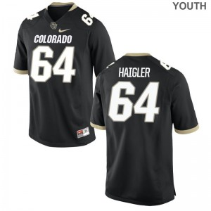 Aaron Haigler Buffaloes Official For Kids Game Jerseys - Black