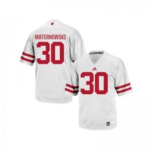 Aaron Maternowski Wisconsin NCAA For Men Authentic Jersey - White