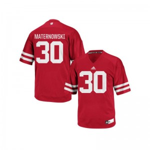 Aaron Maternowski UW Football Mens Replica Jerseys - Red