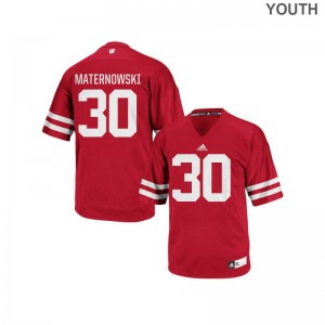 Aaron Maternowski Wisconsin Football Youth Replica Jersey - Red