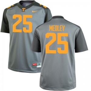 Aaron Medley Tennessee Volunteers Football For Men Game Jersey - Gray