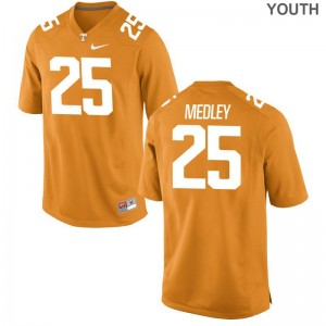 Aaron Medley Tennessee Vols Official Youth Game Jersey - Orange