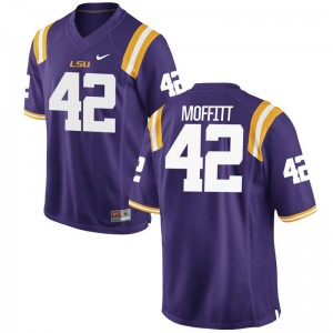 Aaron Moffitt LSU NCAA For Men Game Jerseys - Purple