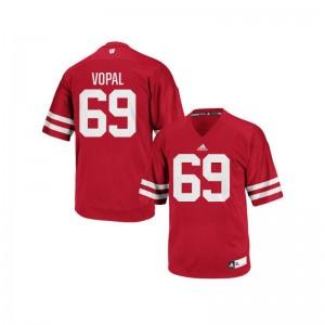Aaron Vopal Wisconsin Badgers Alumni For Men Authentic Jerseys - Red