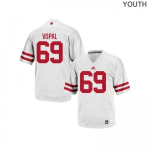 Aaron Vopal Wisconsin Badgers Player Kids Authentic Jersey - White