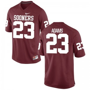 Abdul Adams Sooners College Mens Game Jerseys - Crimson