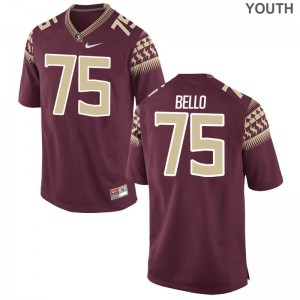 Abdul Bello Seminoles University Kids Game Jerseys - Garnet
