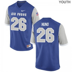 Abraham Nuno Air Force College For Kids Limited Jerseys - Royal