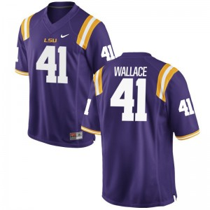 Abraham Wallace LSU NCAA Men Game Jersey - Purple