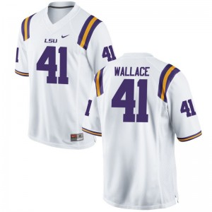 Abraham Wallace LSU Tigers University For Kids Game Jersey - White