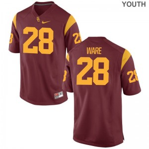 Aca'Cedric Ware Trojans NCAA Kids Game Jerseys - White