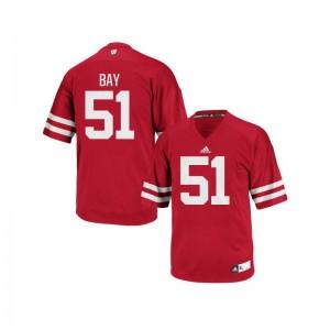 Adam Bay Wisconsin Badgers NCAA Men Authentic Jersey - Red