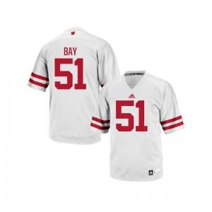 Adam Bay Wisconsin Badgers High School Mens Replica Jerseys - White