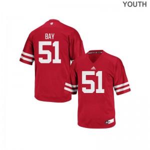 Adam Bay UW NCAA Youth(Kids) Authentic Jerseys - Red