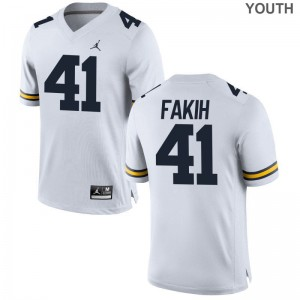 Adam Fakih Wolverines NCAA Kids Game Jerseys - Jordan White