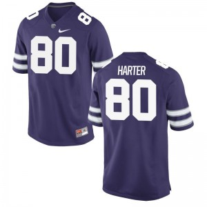 Adam Harter KSU College Mens Game Jersey - Purple