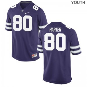 Adam Harter Kansas State Wildcats University Kids Limited Jerseys - Purple