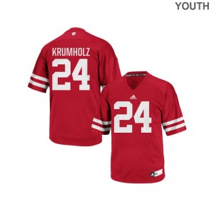 Adam Krumholz Wisconsin Badgers University Youth Authentic Jersey - Red