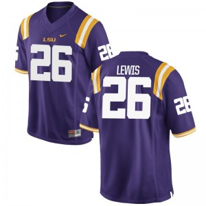 Adam Lewis Louisiana State Tigers Official For Men Game Jersey - Purple