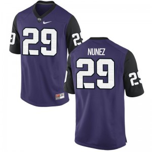 Adam Nunez Texas Christian Alumni Mens Game Jerseys - Purple Black