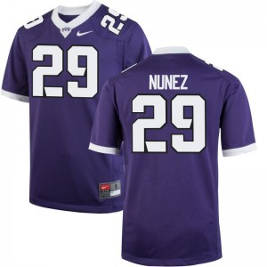 Adam Nunez Horned Frogs Football Men Game Jerseys - Purple