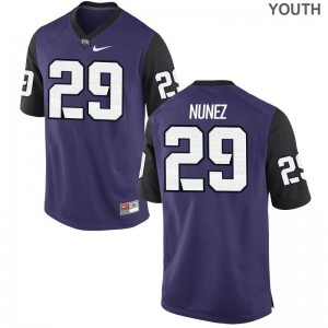 Adam Nunez Texas Christian College Youth(Kids) Game Jerseys - Purple Black