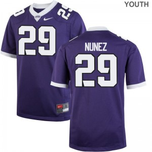 Adam Nunez TCU College Youth Game Jersey - Purple