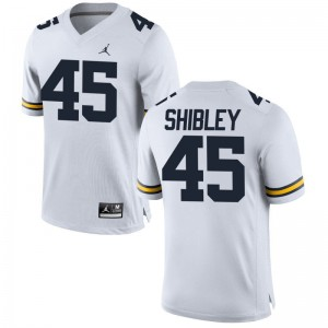 Adam Shibley Michigan Player Men Game Jersey - Jordan White