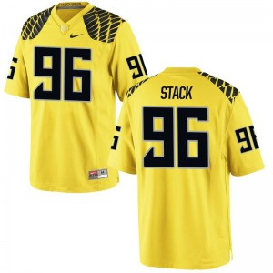 Adam Stack University of Oregon University Men Game Jerseys - Gold